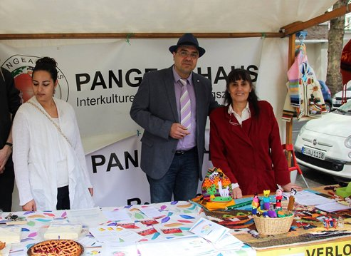 Stand des Pangea-Hauses.